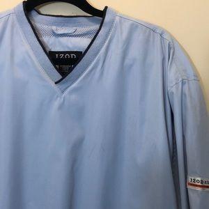 IZOD X.F.G. Blue Pullover Windbreaker Jacket